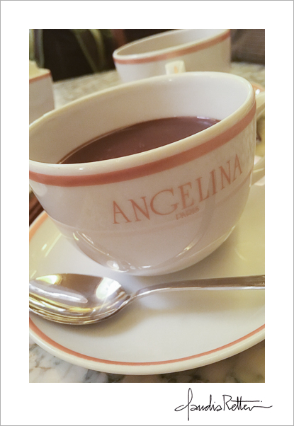 Hot chocolate at Angelina