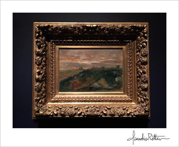 Hilly Landscape , Delacroix