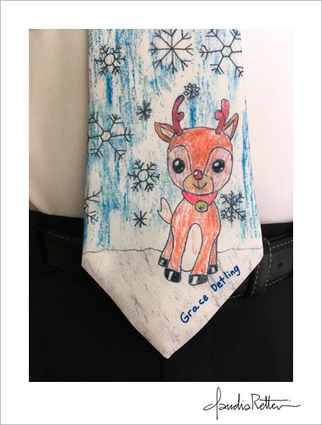 John's Christmas tie.