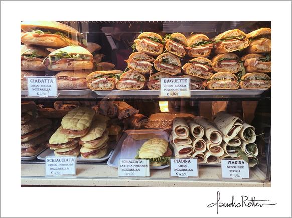 Sandwich shop, Venice Italy