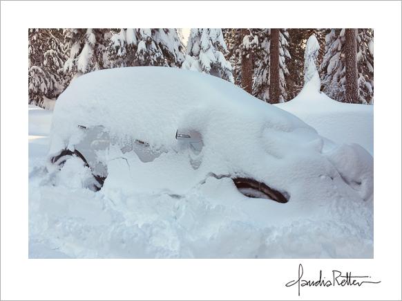 Car under snow