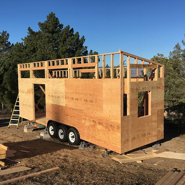 #tinyhouse is starting to look like a home #minimalist