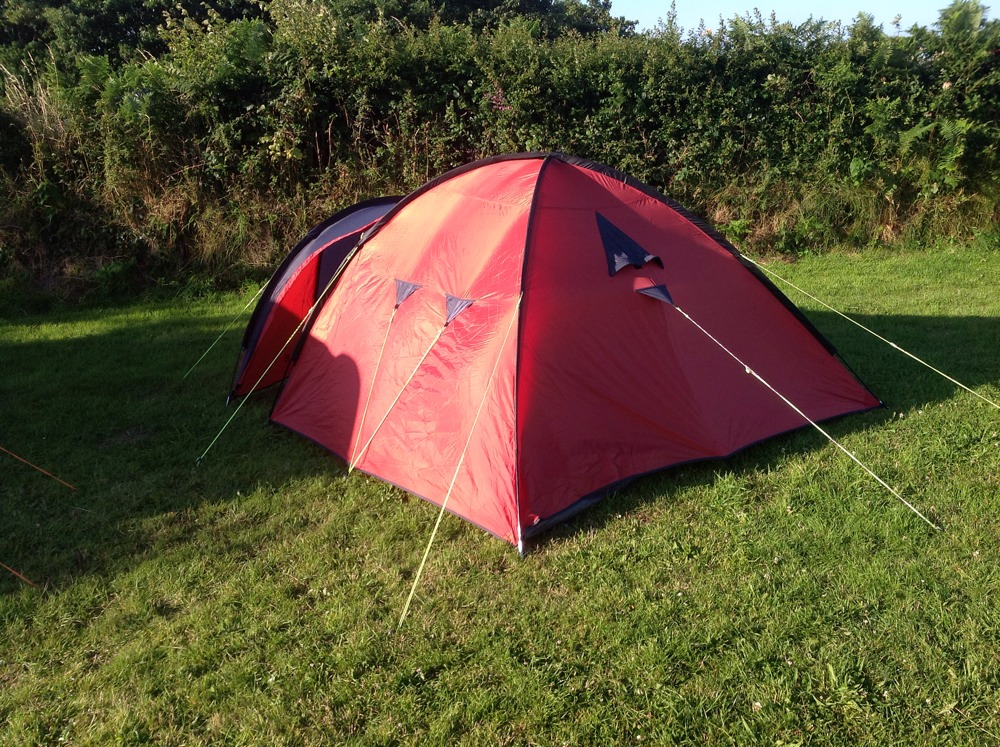 Went camping in Sark last night. A great time was had, even if the weather was a little on the cold side overnight. Trying to get to sleep in a tent sober wasn't all that pleasant though!