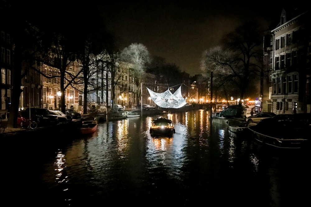 The Lace at the Festival of Light, Amsterdam. Taken with iPhone