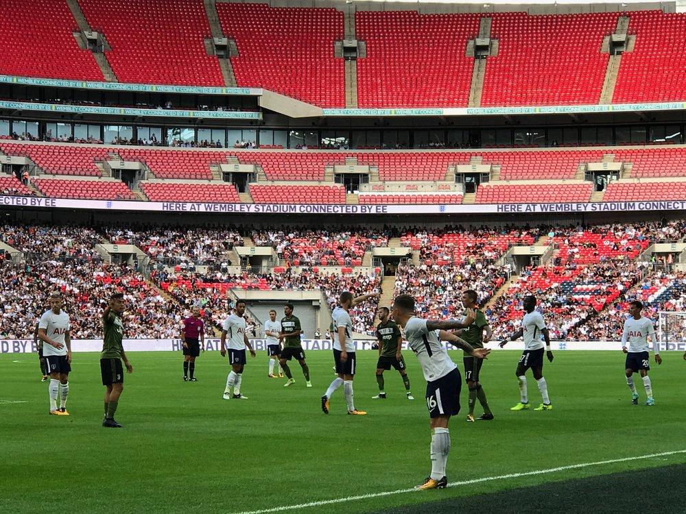 Tottenham vs Juventus, Wembley Stadium.Taken with iPhone