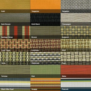 Swatches of vinyl fabrics