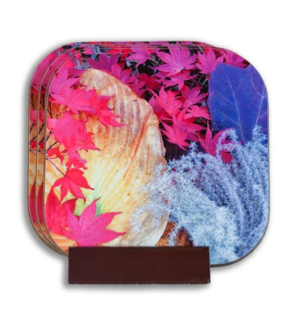 Yellow Hosta Coaster Set