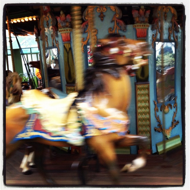 Carousel, Bryant Park, NYC. A stand-in for memory.