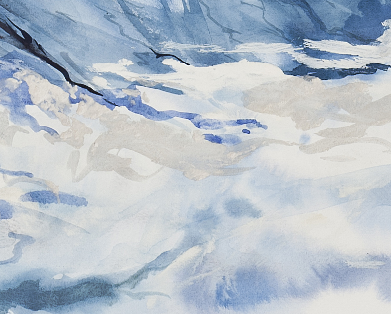 Peaks in the Clouds (detail)