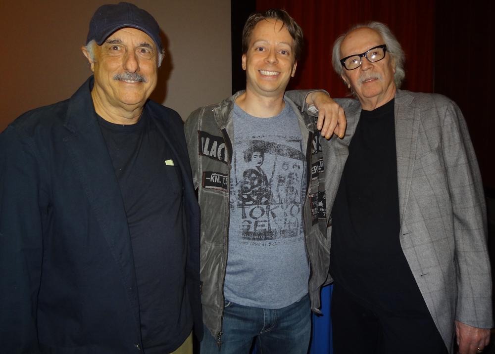 "Culture Crypt critic Ian Sedensky with ""Halloween"" alumni Nick Castle and John Carpenter."