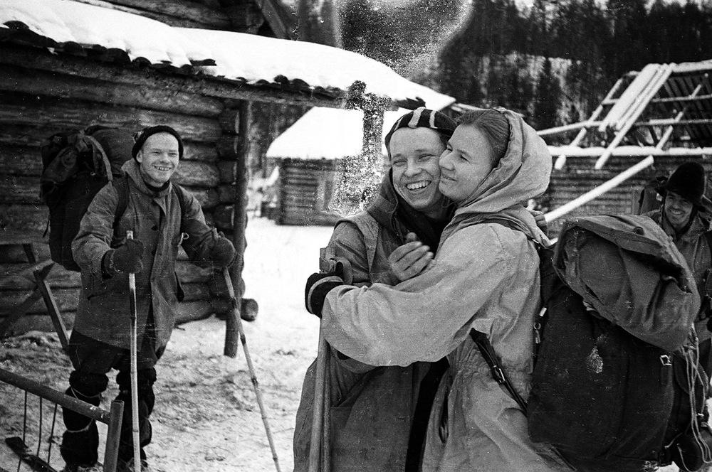 Actual photo of Igor Dyatlov, Yuri Yudin, and Ludmila Dubinina.