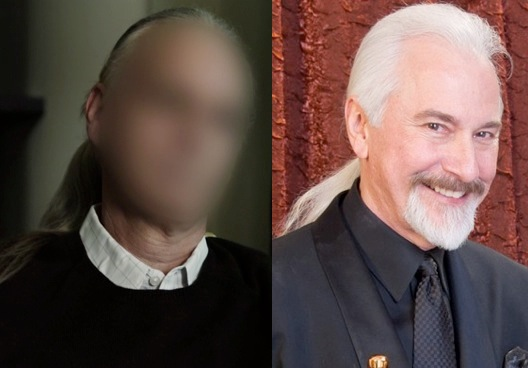 "Is ""Mark Tucker"" actually Academy Award-winning makeup artist Rick Baker?"