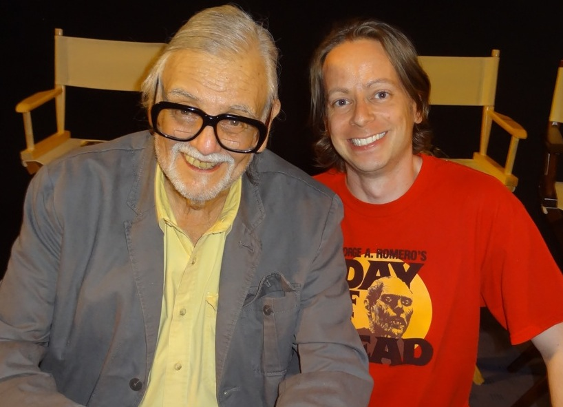 George A. Romero with Culture Crypt's Ian Sedensky.