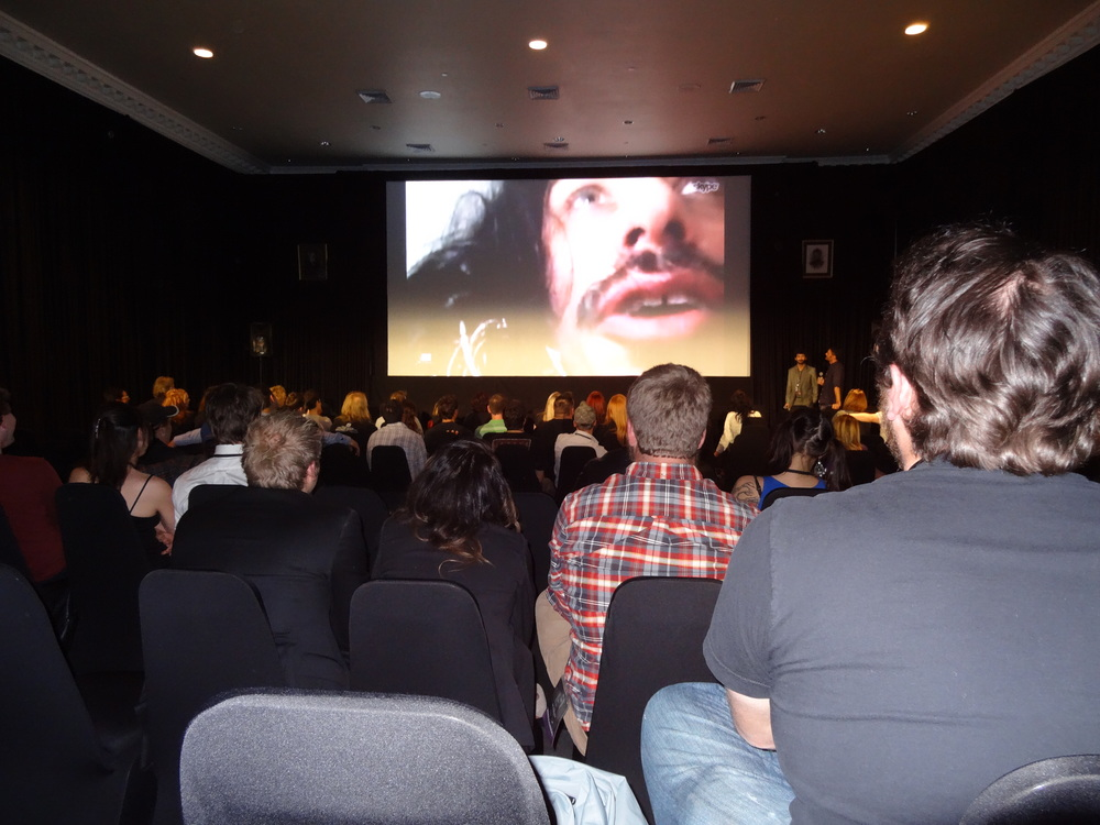 In character as Vladislav, Jemaine Clement Skypes in from his coffin for the Stanley Film Festival 2014 Q&A.