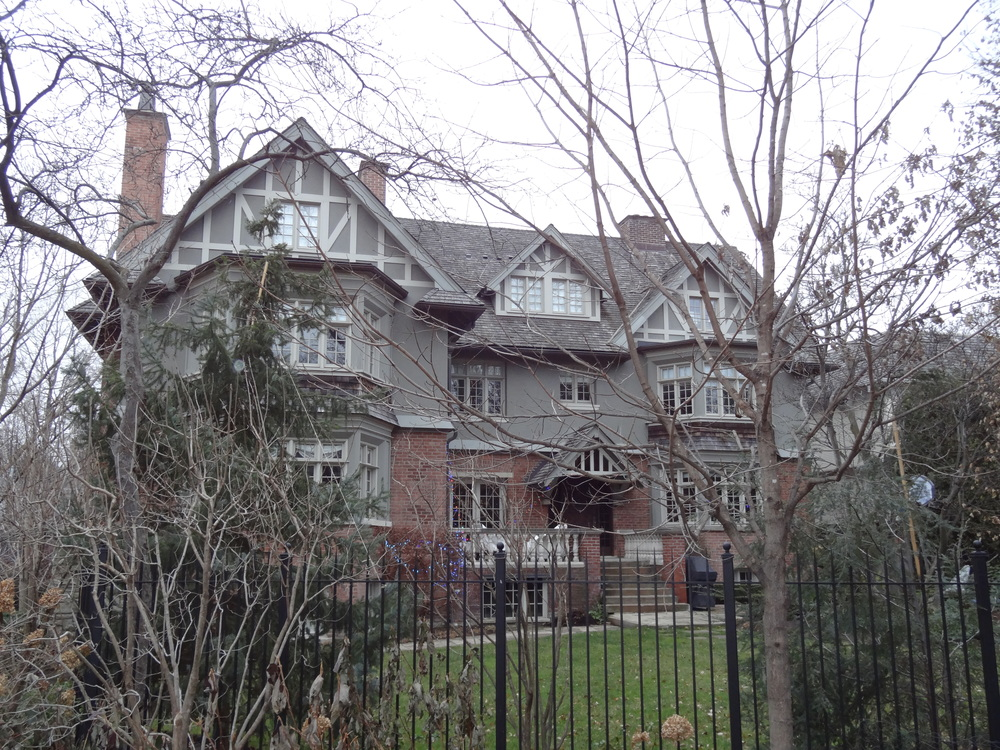"The ""Black Christmas"" house in Toronto, Ontario - Photo taken December 9, 2014."