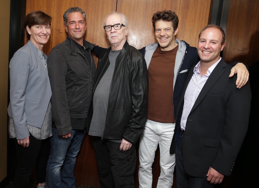 L-R: Zanne Devine, Malek Akkad, John Carpenter, Jason Blum, David Thwaites.  Photo: Eric Charbonneau.