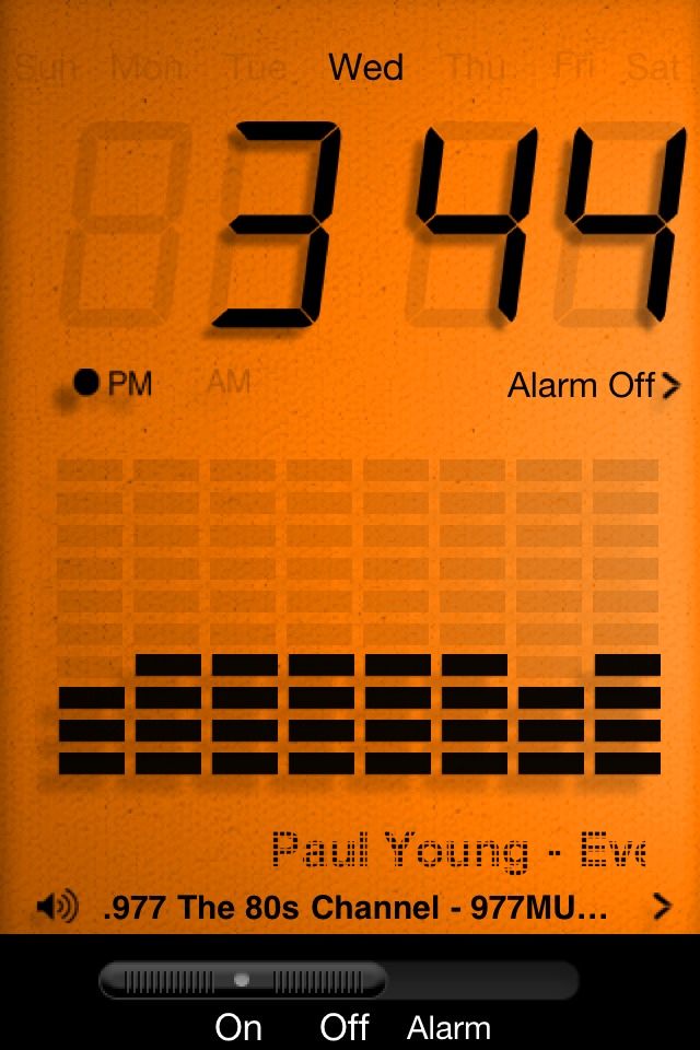 Who couldn't use an alarm clock? Get Alarm Clock Radio now in the App Store for just $0.99.  http://itunes.apple.com/us/app/id320108713?mt=8 It's useful. It's beautiful. It's affordable.   Update:  As of June 30th, this app is now universal meaning it is ready to download for your iPad as well. Enjoy!