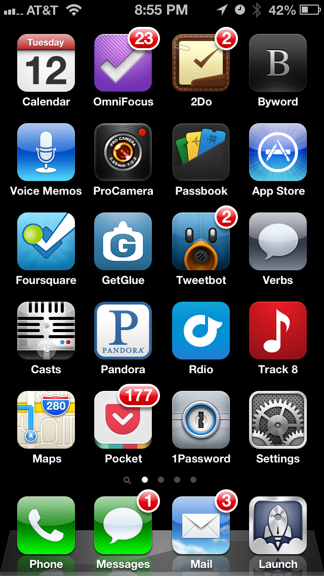 My Morning Mobile Workflow: The Critical 2nd Page of My iPhone Home Screen