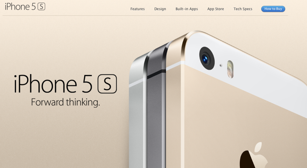 iPhone 5s: Silver, Space Grey, Gold