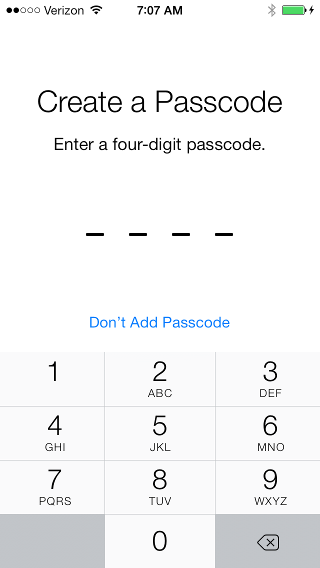 Creating a passcode helps keep unwanted people out of your phone and should be enabled.
