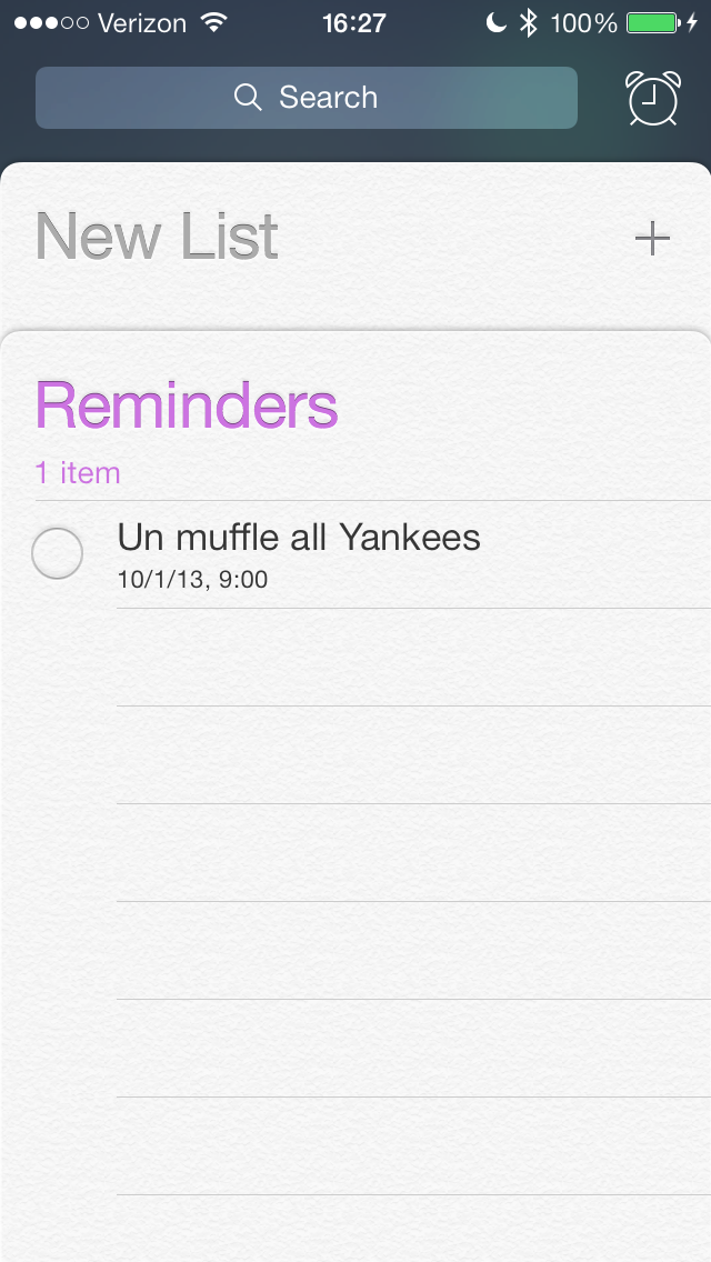 Reminders. I'm a little mad at the Yankees if you couldn't tell.