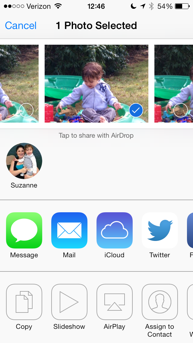 AirDrop - Easily send pictures, contacts, maps and more with a simple tap. Anything that has a share button can be sent via AirDrop