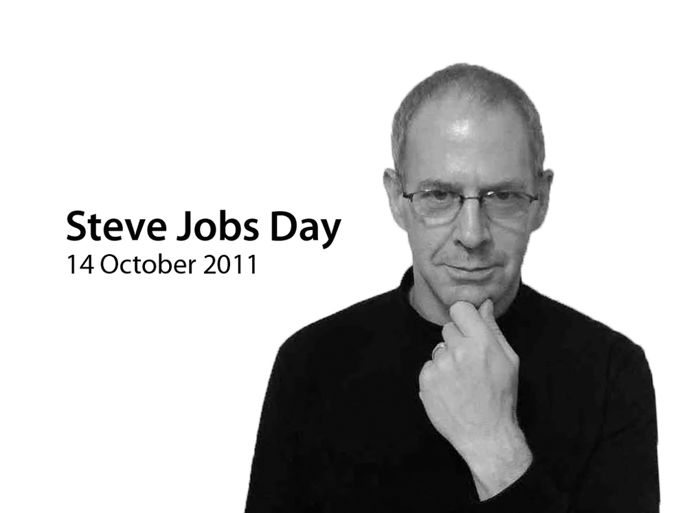 Yes, I did it. I spent all day in my black turtleneck sweater in celebration of the life of Steve Jobs. Thank  you Steve.