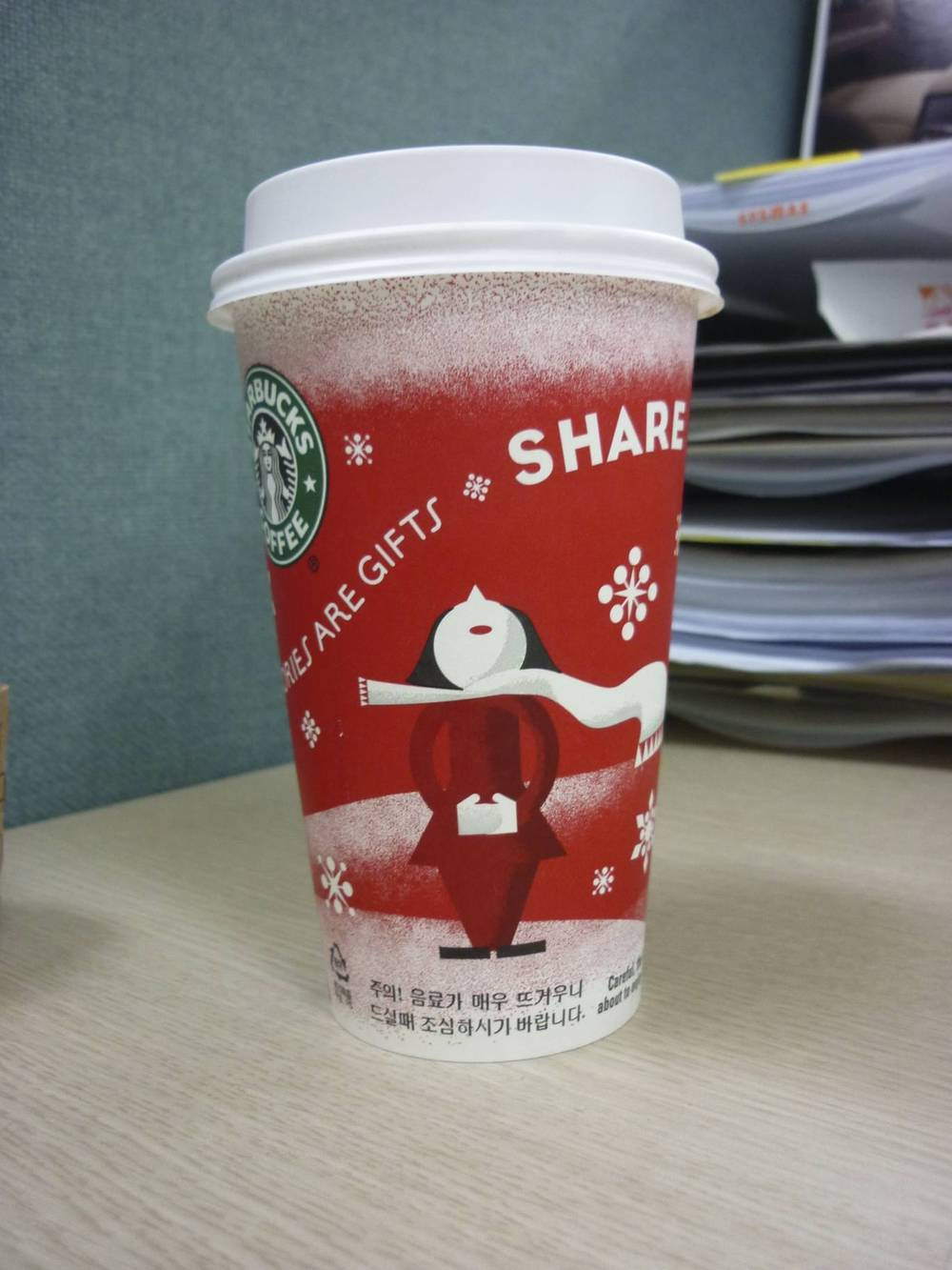 Starbucks in Samsong Dong are already serving coffee in Christmas cups… And it's still two months to Christmas !!