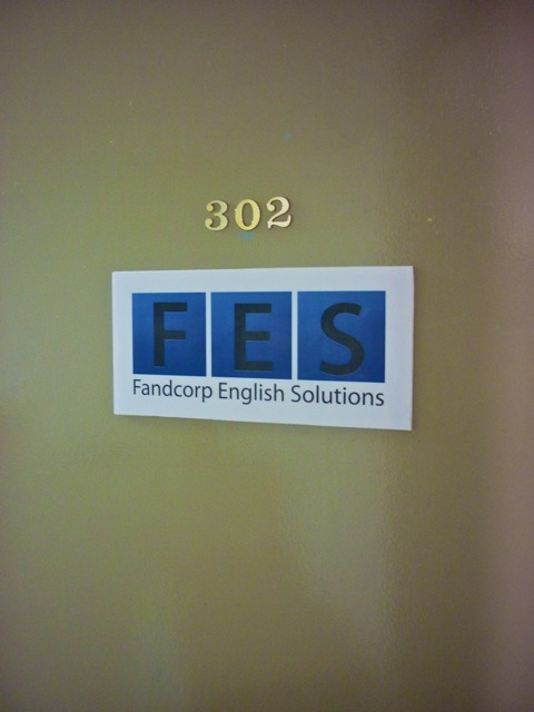 Now we have the company name and logo on the office door. Very professional if you don't mind me saying :-)