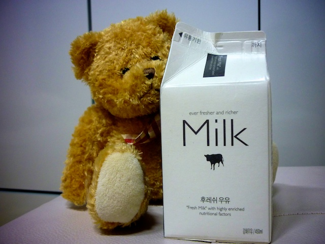 My milk carton design obsession grows (and a teddy bear is introduced) ...