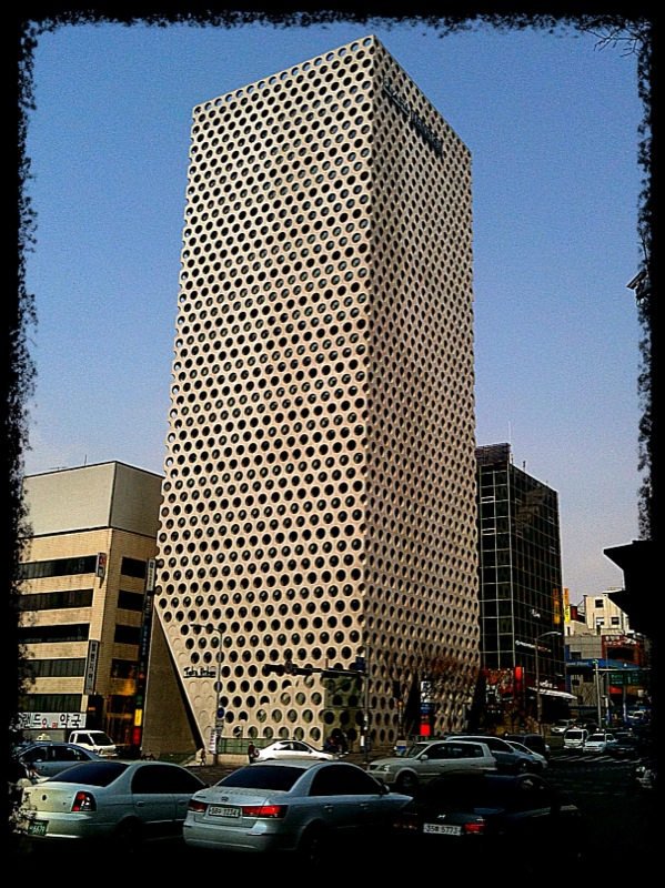 Came acress this unusual architecture in the Gangnam area. Sent from my iPhone