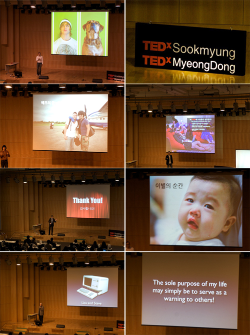 "Spent an amazing afternoon at the Sookmyung Womens University in Seoul at the TEDx - ""Young Spirit, Visualize your idea"". The presentations were awesome and it was fantastic to see no bullet points. Instead we were served a feast of images and simple sentences, both in Korean and English.  Thank you to everyone who participated."