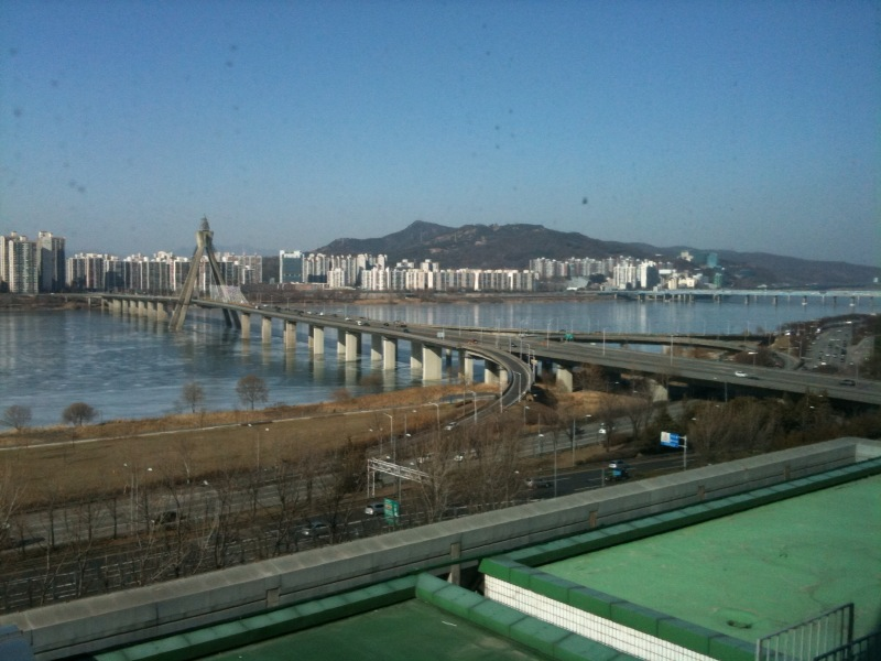Such a beautiful clear, yet cold, day in South eastern Seoul today Sent from my iPhone