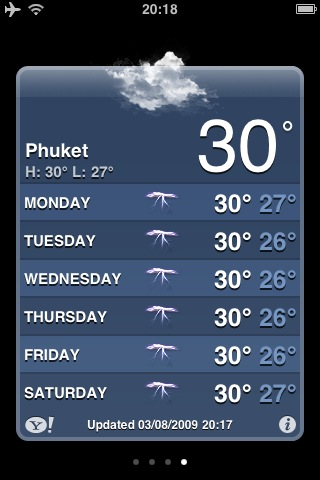 Had a quick look at the weather forecast for Phuket this weekend. Was looking forward to some beautiful sunshine - looks like we'll be enjoying some amazing thunderstorms   Sent from my iPhone
