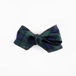 Silk bow tie in Black Watch