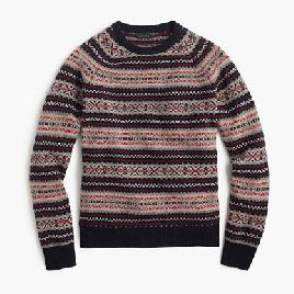 Lambswool Fair Isle sweater
