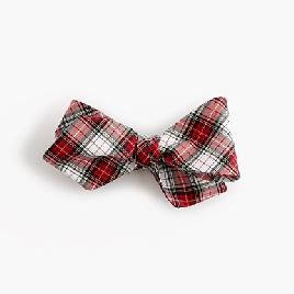 Cotton bow tie in tartan