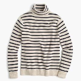 Wallace & Barnes wool turtleneck in stripe