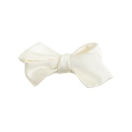 Italian satin point bow tie in white
