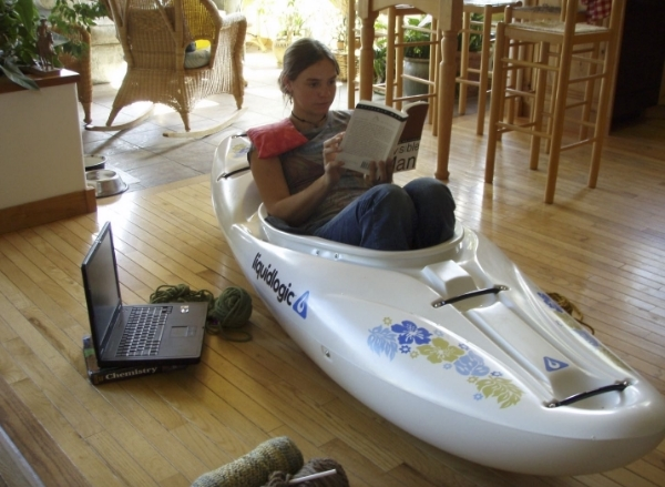 Even when I wasn't kayaking, I was in a boat, age 16
