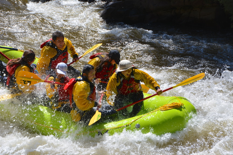 - The Upper Fork, our most popular option, is packed full of fun rapids. When the water levels are high this Class III section will make you happy you're wearing a wetsuit! The wave trains can get pretty high so we raised our age minimum to 10+.