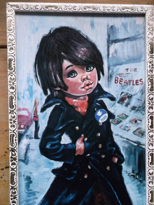 Groovy Beatles' Fan Gypsy Child Painting