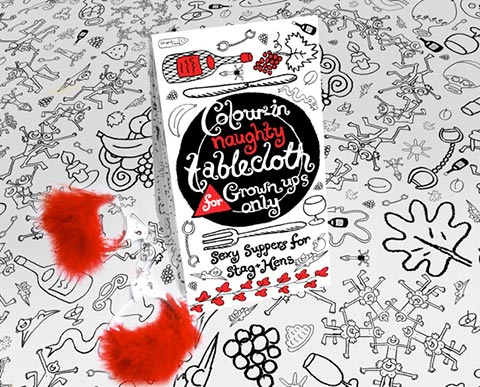 Eggnogg Colouring In Tableware- Doodley Fun for All Ages