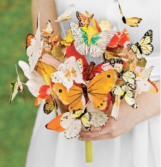 Unusual Wedding Bouquets for Alternative Brides.