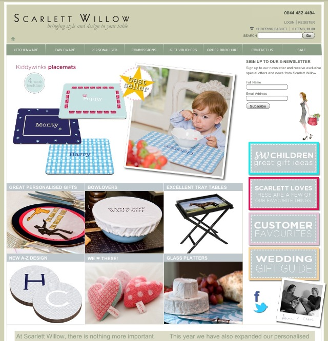 Scarlett Willow Personalised Tableware To Brighten Up Your Lunches This Spring