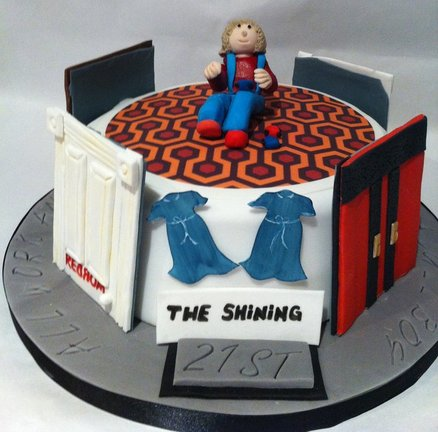 Two Cakes Based on The Shining. Red Nom?