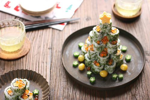 Sushi Christmas Trees