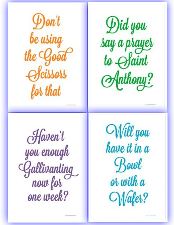 Irish Mammy Saying Tea Towels