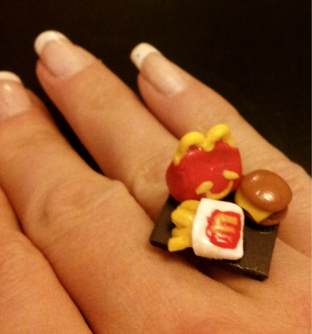 Miniature Dinner Sculpture Rings