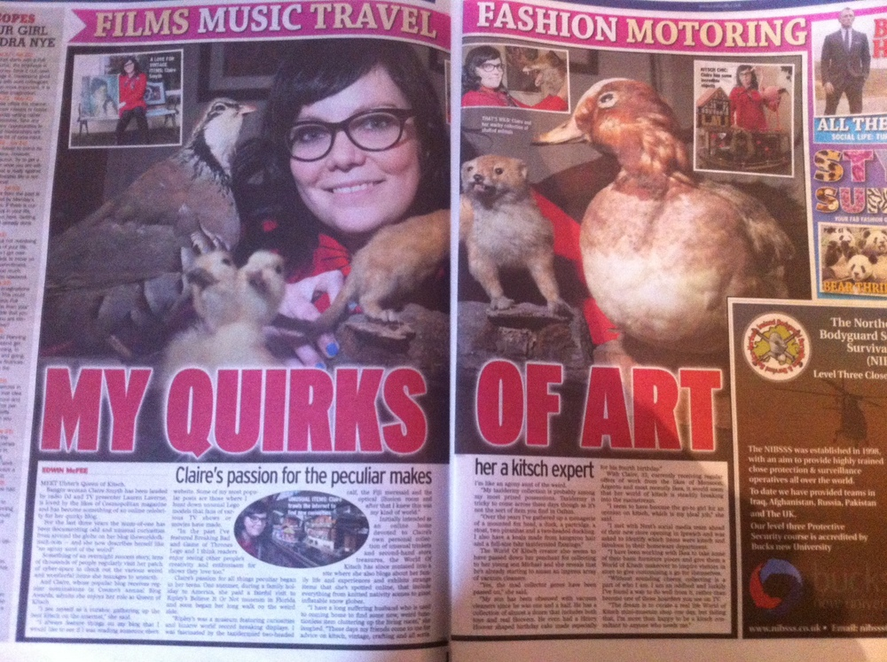 The World of Kitsch interviewed by Edwin McFee in The Sunday Life